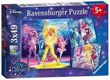 Ravensburger Disney Star Darlings Jigsaw Children's Girls Puzzles 3x49 Pieces