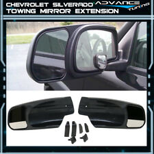 For 07-13 Silverado OE Factory Style Side View Towing Mirror Extension Pair