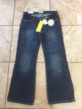 "BNWT Moto Topshop Maternity Denim Blue Boy Fit Jeans Size 12 L 32"" Free UK P&P"