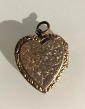 Antique Large Heart Locket Pendant