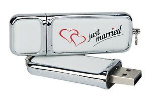 """Hochzeit USB-Stick """"Just Married""""."""