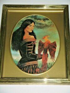 Scorpio Phoenix Lady By Elizabeth Kyle 1992 Australian Artist Framed Print