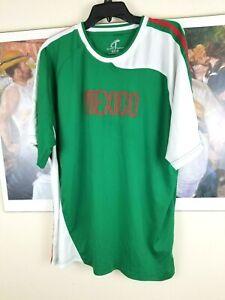 MEXICO NATIONAL TEAM SHORT-SLEEVE GREEN SOCCER JERSEY MEN 2XL