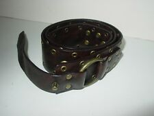 EUC STEVE MADDEN  WOMEN's BROWN LEATHER STUDDED BELT/Sz M/BEAUTIFUL - VERY RARE!