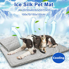 Soft Ice Silk Pet Cooling Mat Pad Bed Summer Cushion Dog Cat Puppy
