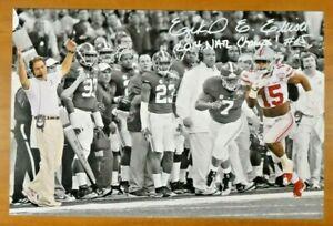 Ezekiel Elliott Signed 2014 National Champs 12x18 Ohio State Football Photo