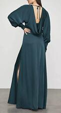 BCBG MAXAZRIA SATIND DRAPED BACK MAXI DRESS SIZE 4 Small NWT $428