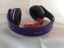 Used Original Monster Beats by Dr Dre STUDIO Earphones Headphones PURPLE Genuine