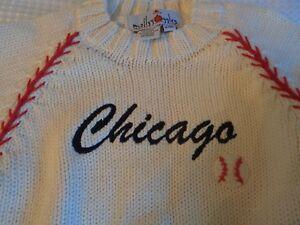 Molly Goggles Boy Toddler sz 24 months baseball Chicago sweater Handknit Peru