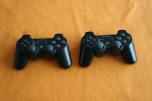 2 Stück Original Dualshock Controller schwarz wireless für Sony Playstation 3