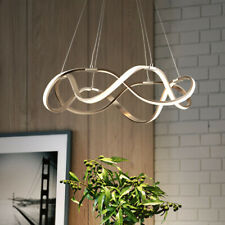 21inch Draped Ribbon LED Chandelier Dimmable Linear Pendant Light Fixture Gold
