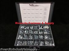New Grade 5 Nut, Bolt and washer assortment / kit 490 Pieces Zinc plated