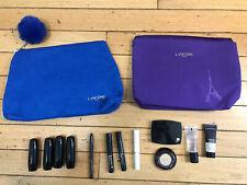 NEW LANCOME MAKEUP Lipstick Mascara Cosmetics Bags Lot Travel/Sample Size