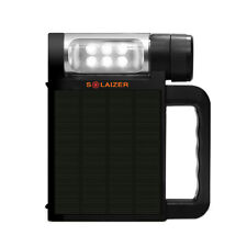 New Solaizer Camping Solar Portable LED Black Lantern  w/Built-in USB Charger