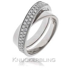 18 Carat White Gold Band Fine Diamond Rings