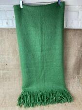 West Elm Super Soft Acrylic Green Throw Blanket