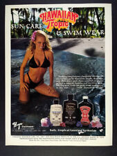 1985 Hawaiian Tropic Lotion Swimsuits pageant finalist photo vintage print Ad