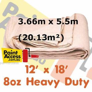 Paint Drop Sheet Oldfields Heavy Duty Painter's Canvas Cloth 12' x 18' 3.66x5.5m