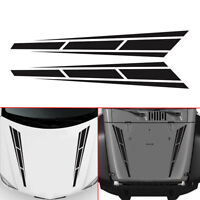 1Pair Racing Stripes Vinyl Graphics Decal Hood Sticker Car Front Stickers Random