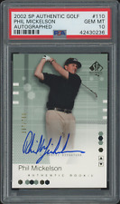 PHIL MICKELSON 2002 SP Authentic RC #110 PSA 10 - #ed 397/799