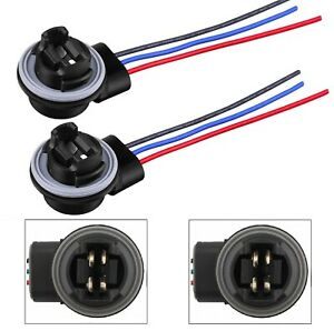 Universal Pigtail Wire Female Socket 3157 S Two Harness DRL Daytime Light Lamp