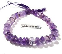 """1 Strand Natural Pink Amethyst Smooth Rondelle 5-8mm Gemstone Beads 9""""Inch"""