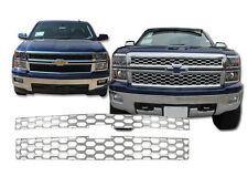 2015 CHEVROLET CHEVY SILVERADO 1500 LT WT 2PC CHROME ABS GRILLE GRILL OVERLAY