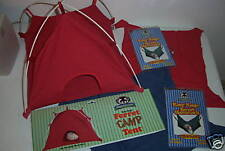 Sheppard & Greene Red Ferret Cage Tent Toy and Blue & Red Cage Hammocks