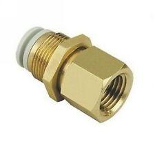 "LOT5 Connectors Brass Bulkhead 6mm Tube-1/4"" Female BSPP Replace SMC KQ2E06-02"