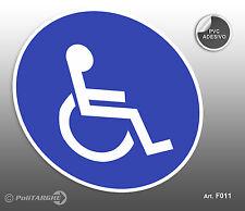Cartello adesivo TOILETTE disabili - negozio/studio/laboratorio/officina
