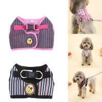 Fashion Pet Small Dog Puppy Cat Harness Collar Leash Lead Rope Adjustable S-XL