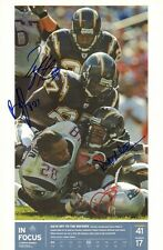 DONNIE EDWARDS SIGNED AUTO'D 11X17 PHOTO CHEER CARD SAN DIEGO CHARGERS FLORANCE