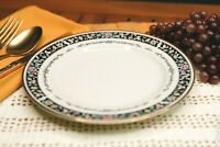 """UNITED SURGICAL STEEL China - #215 Ebony Bouquet - 7½"""" SALAD PLATE - Japan"""