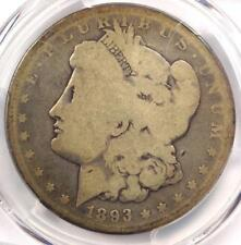 1893-S Morgan Silver Dollar $1 - PCGS G4 (Good) - Rare Key Date Certified Coin!