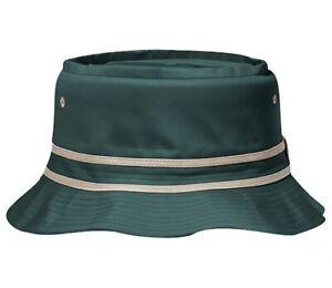 NEW SZ L/XL ADULT DARK GREEN BUCKET HAT CAP HIGH QUALITY COTTON TWILL BOONIE