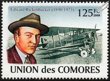 Eddie Rickenbacker & WWI SPAD S. XIII Biplane Fighter/scout Avion Timbre