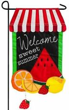 Summer Fruit Garden Size Applique Flag 168542BL