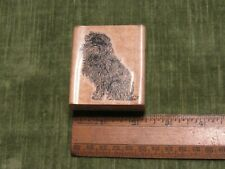 Stamp Cabana Affenpinscher Realistic Dog Breed Rubber Stamp