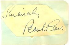Pearl Carr signed autograph album page 1950s English singer/entertainer