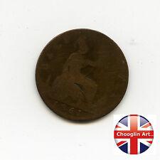 A British Bronze 1861 VICTORIA HALFPENNY Coin           (ref 1861:131/132)