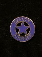 1980's Vintage Deputy Sheriff (Small) hat push pin, lapel