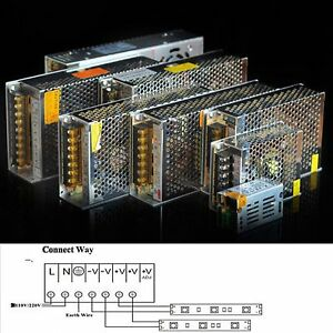 AC 110/220V TO DC 24V 5A 6.5A 10A 15A 20A Switching LED Driver Power Supply
