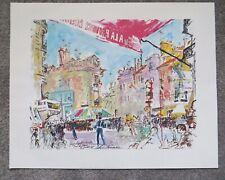 """Leroy Neiman print Tour de France Versailles 16"""" X 20"""" unframed unused"""