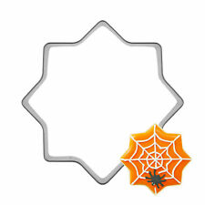 Halloween Spider web Shape Stainless steel Cookie Cutters DIY Decor Baking Molds