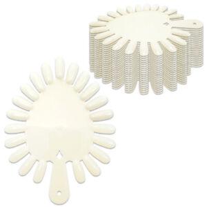 Beauticom 210pcs Heart Shaped White False Nail Tips Palette Practice Display