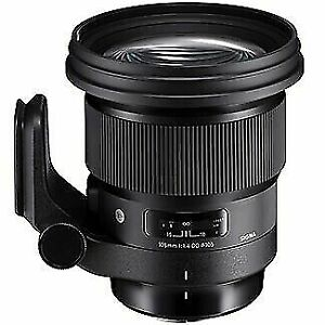 105mm F1.4 SIGMA ART DG HSM PRIME LENS for NIKON NEW in FACTORY BOX,COVER & CASE