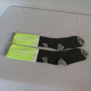 Victoria's Secret PINK Knee Socks Yellow/Gray/White/Olive 9-11 NWOT