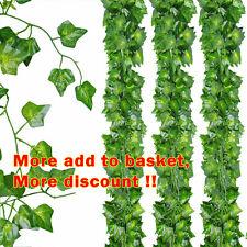 2M Artificial Ivy Leaf Fake Plant Hanging Garland Plants Vine Foliage Home Decor