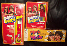 Lot of 1979 Mork & Mindy Robin Williams Mork & Mindy dolls & Card Game  MIB!!!