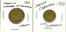2 Coins Commerce Industrie 1923 1 Franc & 1926 50 Centimes, Chamber of Commerce